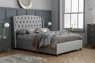 Birlea Balmoral Grey Velvet Bed Frame