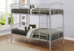 Birlea Corfu Silver Metal Bunk Bed