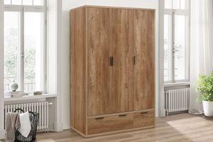 Birlea Stockwell 3 Door + 2 Drawer Wardrobe