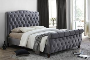Birlea Colorado Grey Fabric Sleigh Bed