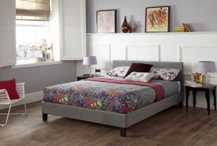 Serene Evelyn King Size Steel Fabric Bed Frame