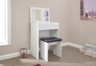 GFW Compact Dresser + Stool White