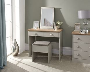 GFW Kendal Grey Dressing Table with Stool