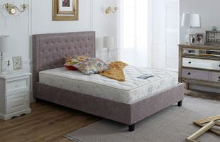 Knowsley Mink Chenille Bed Frame