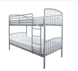 Montreal Silver Metal Bunk Bed