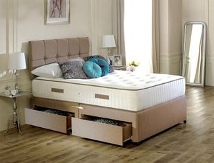 Remy Latex Pocket Divan Bed 2 FREE Drawers