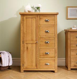 Birlea Woburn 1 Door 5 Drawer Wardrobe